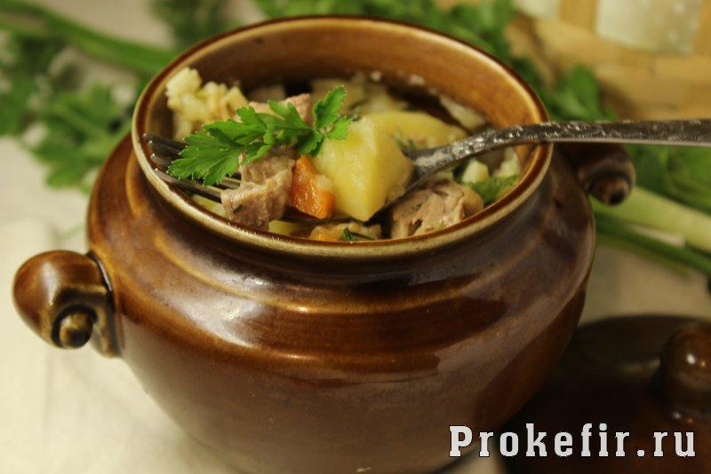 Свинина с картошкой в горшочках в духовке с кефирным соусом