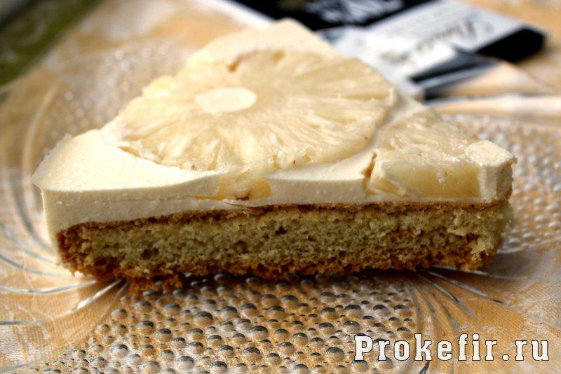Торт без глютена с кефирно творожным суфле