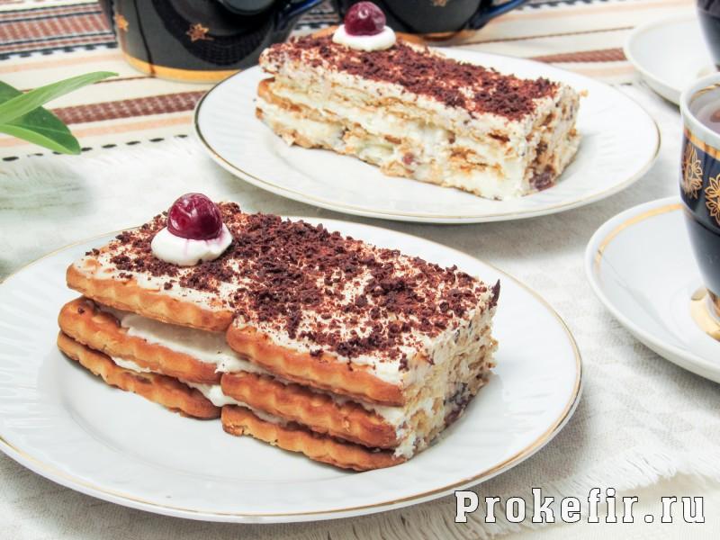 Торт без выпечки из печеня и творога с кефиром: фото 10