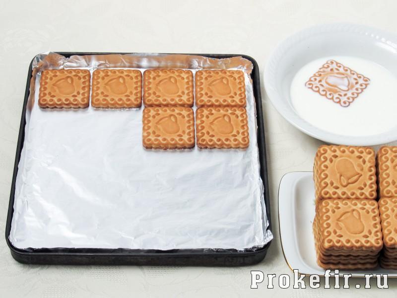 Торт без выпечки из печеня и творога с кефиром: фото 4