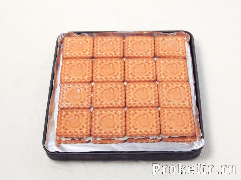 Торт без выпечки из печеня и творога с кефиром: фото 7