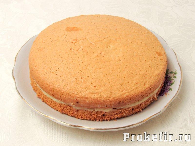 Торт чародейка в шоколадной глазури на кефире: фото 7