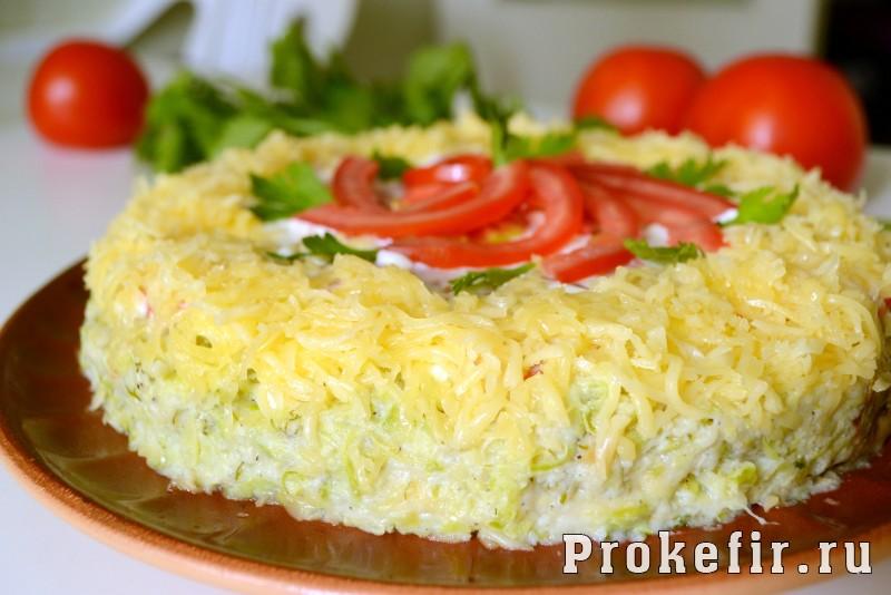 Торт из кабачков с помидорами кефиром и сыром запеченный в духовке