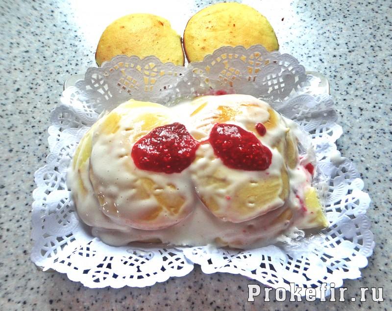 Торт из оладушек в духовке на кефире: фото 12