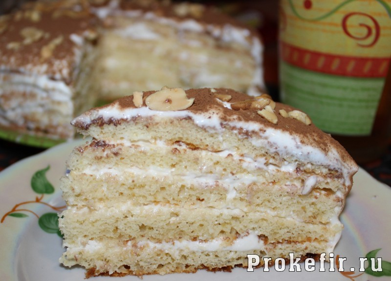 Торт молочная девочка на кефире