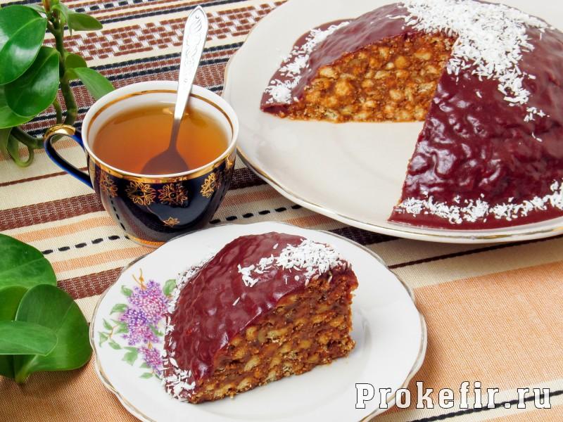 Торт муравейнык из печеня без выпечки