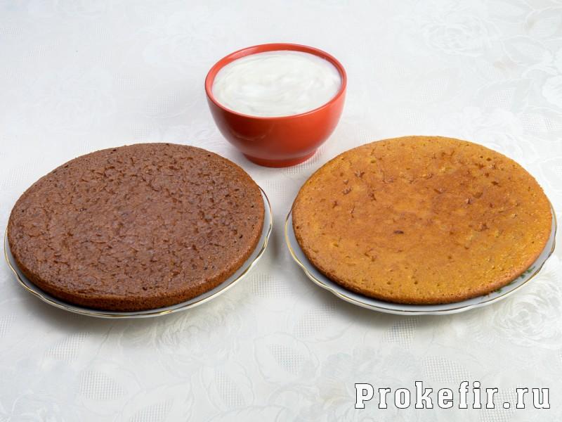 Торт на кефире с заварным кремом: фото 3