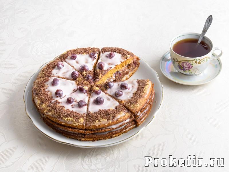 Торт на кефире с заварным кремом: фото 4