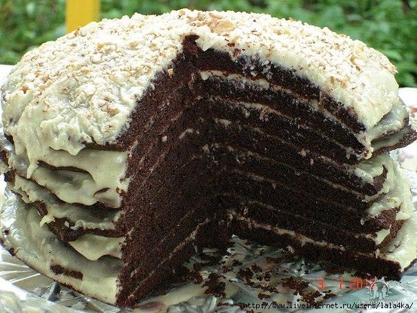 Торт на кефире Ноченька