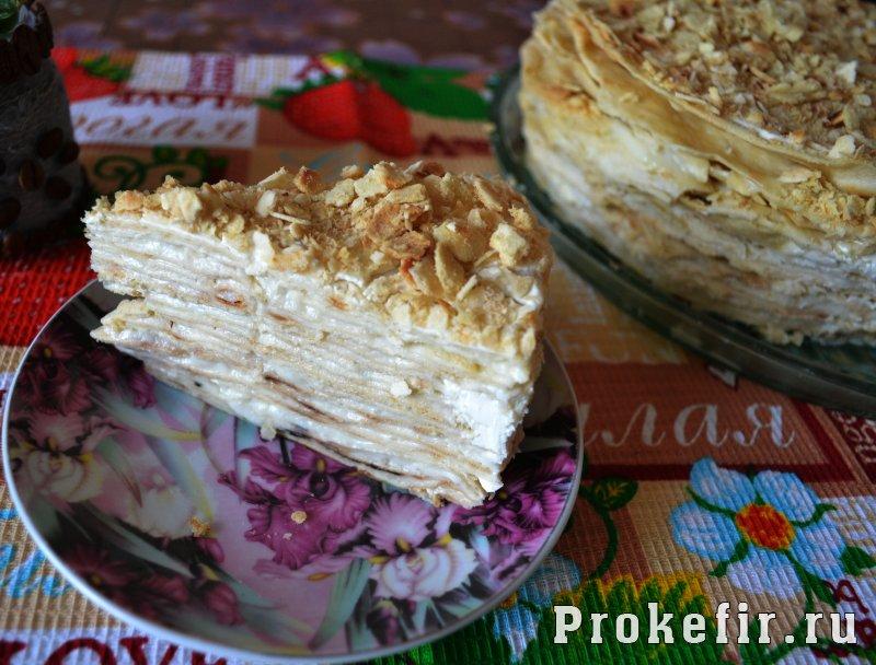 Торт наполеон на сковороде рецепт с заварным кремом