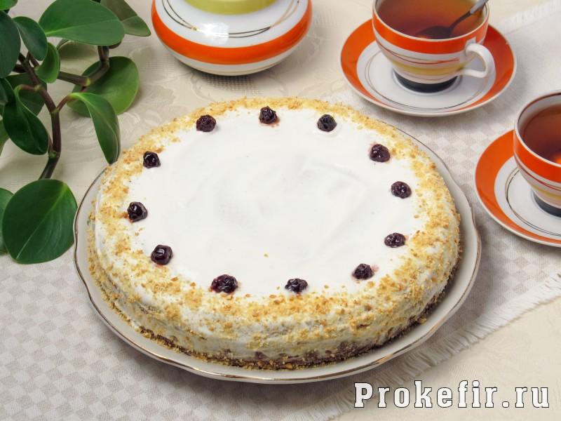 Торт сметанник классический на кефире: фото 7