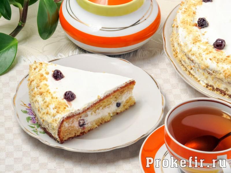 как приготовить торт сметанник со взбитыми сливками