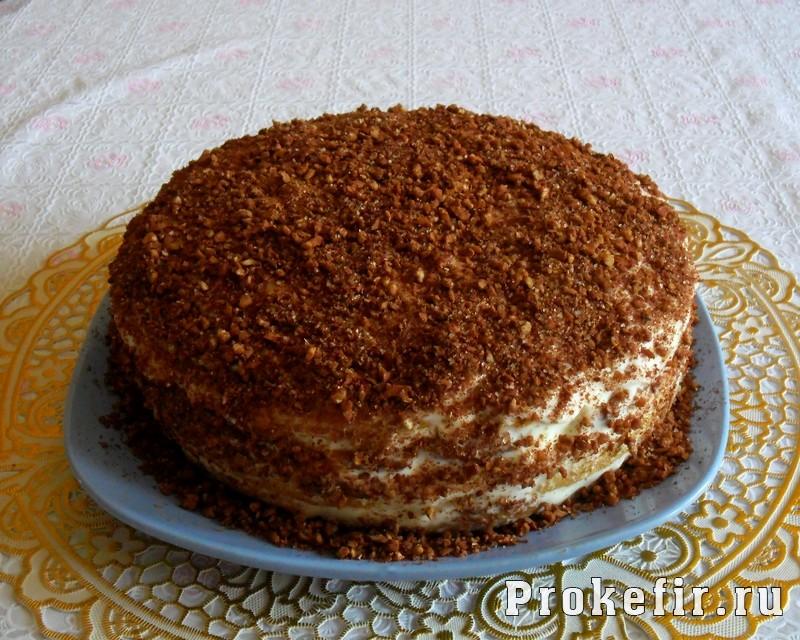 Торт со сметанным кремом на кефире: фото 22