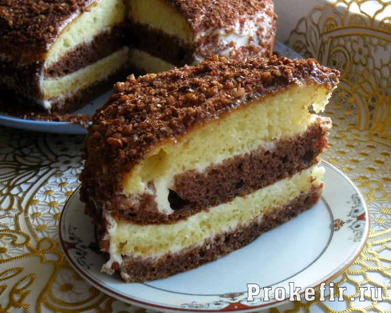 Торт со сметанным кремом на кефире: фото 23
