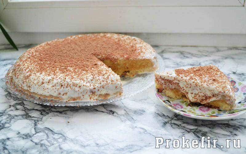 Торт три молока на кефирном бисквите
