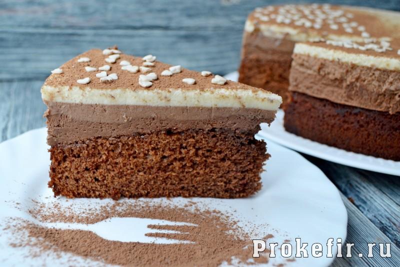 Торт три шоколада для детей без ликера
