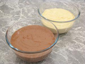 Тесто на кефире с какао и без какао