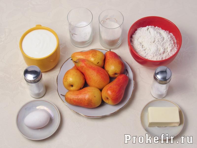 Цветаевский пирог с грушами в духовке на кефире: фото 1