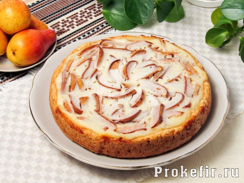 Цветаевский пирог с грушами в духовке на кефире: фото 7