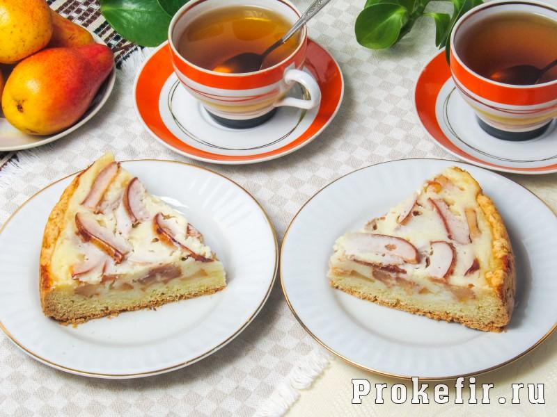 Цветаевский пирог с грушами в духовке на кефире: фото 8