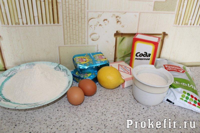 Творожно лимонный пирог на кефире: фото 1