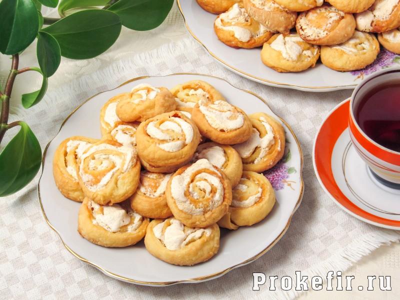 Творожное печенье розочки на кефире