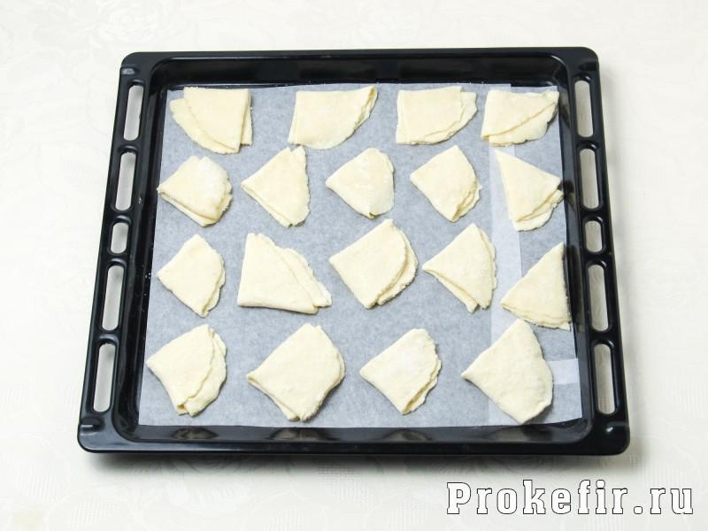 Творожное печенье треуголники на кефире: фото 8