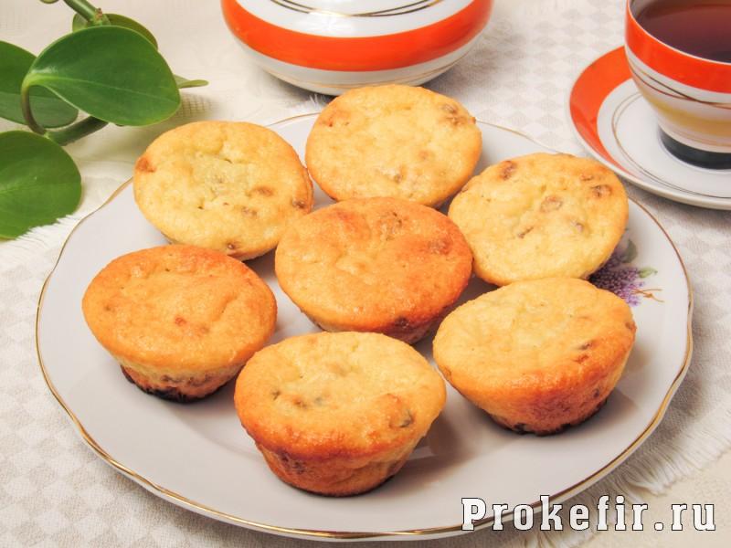 Творожные кексы без масла и маргарина на кефире