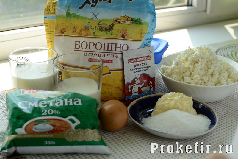 Творожные завитушки в сметанной заливке на молоке и кефире: фото 1