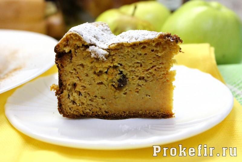 Тыквенный кекс на кефире с изюмом в духовке: фото 11