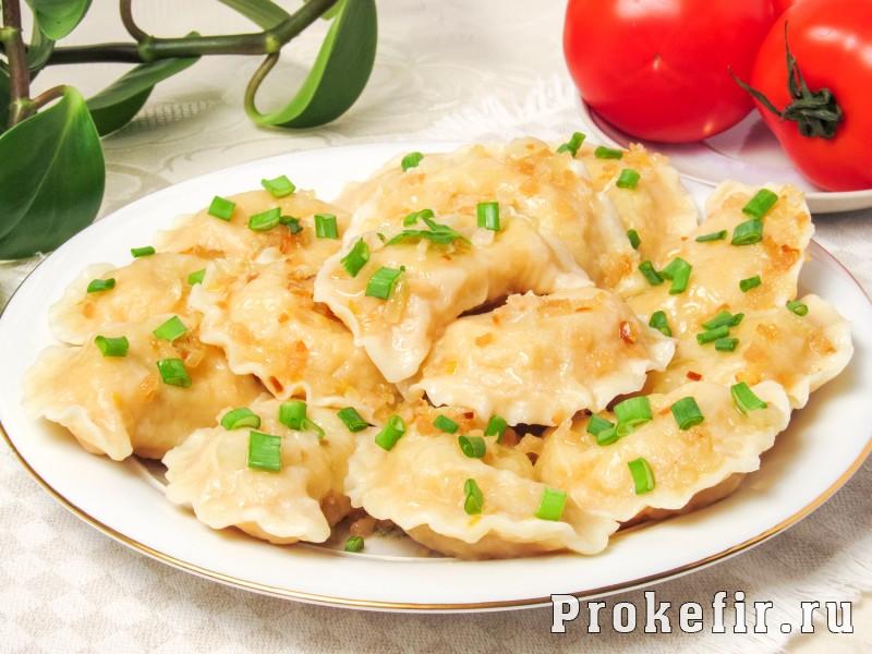 Пельмени с картошкой и салом