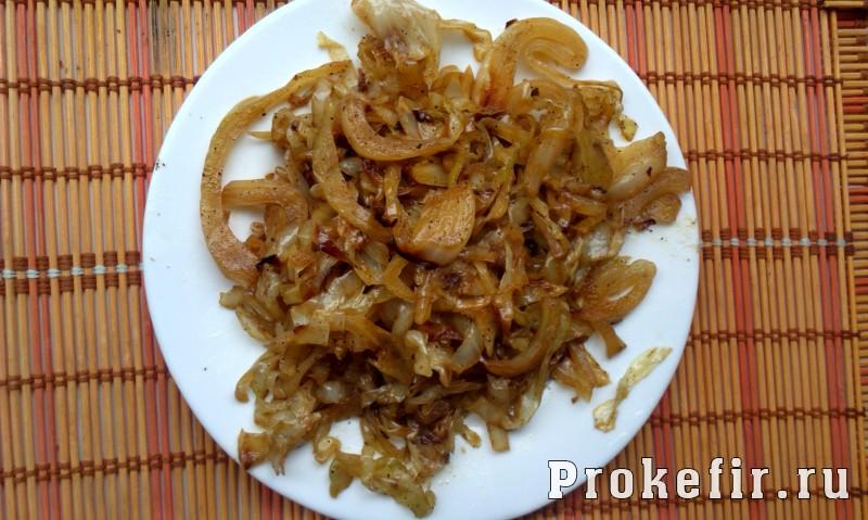 Заливной пирог с капустой и яйцом на кефире: фото 7