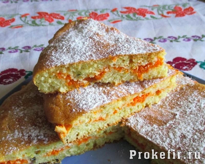 Заливной пирог с морковью на кефире: фото 19