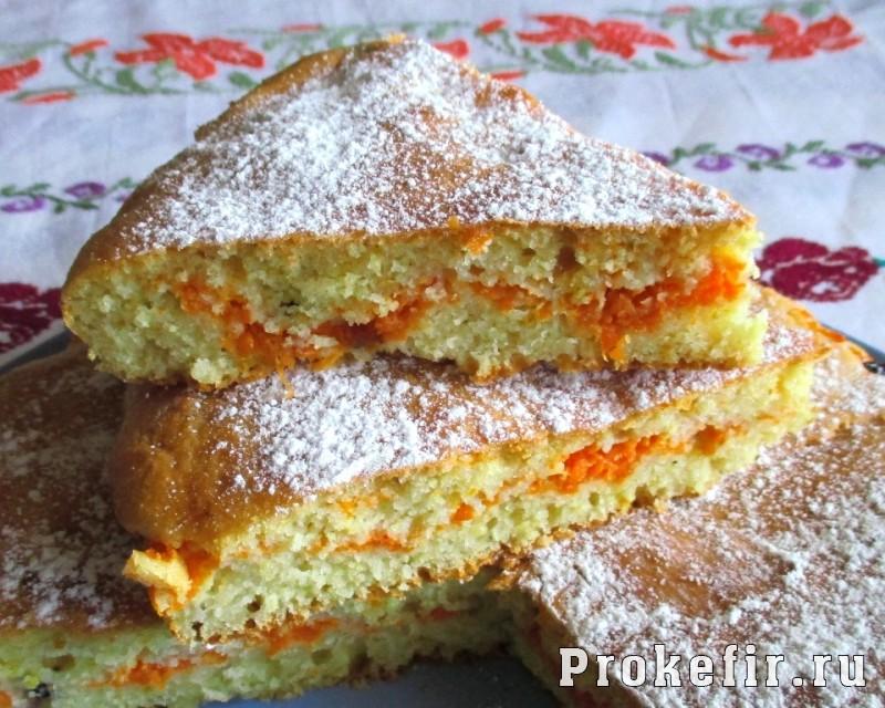 Заливной пирог с морковью на кефире: фото 20