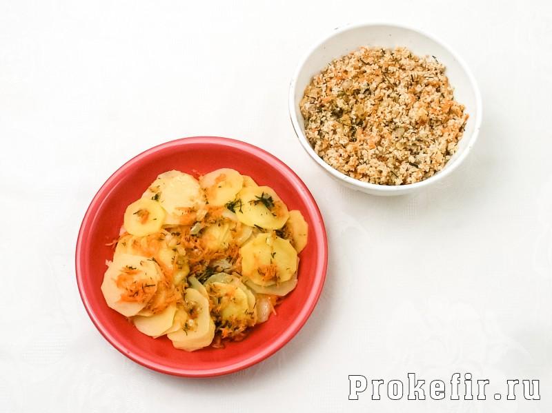Заливной пирог с мясом на кефире с картошкой: фото 3