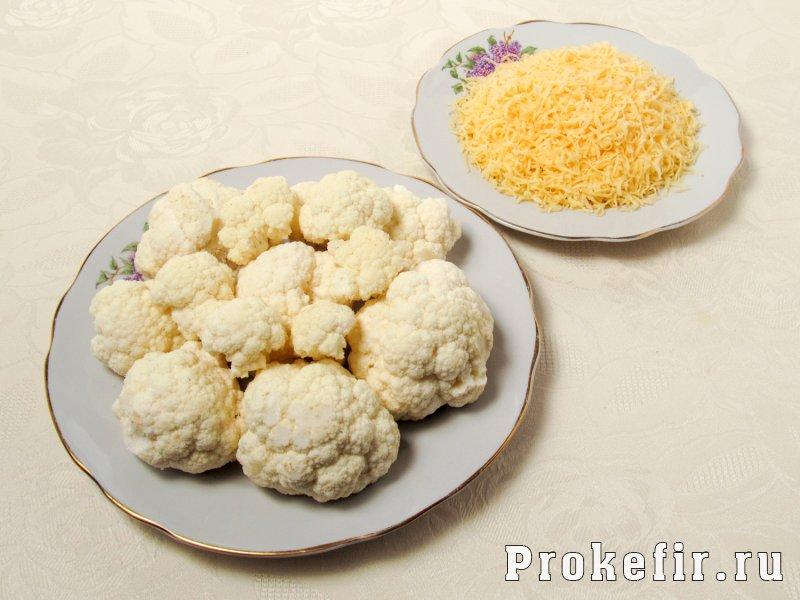 Запеканка из цветной капусты с сыром и яйцом на кефире: фото 2