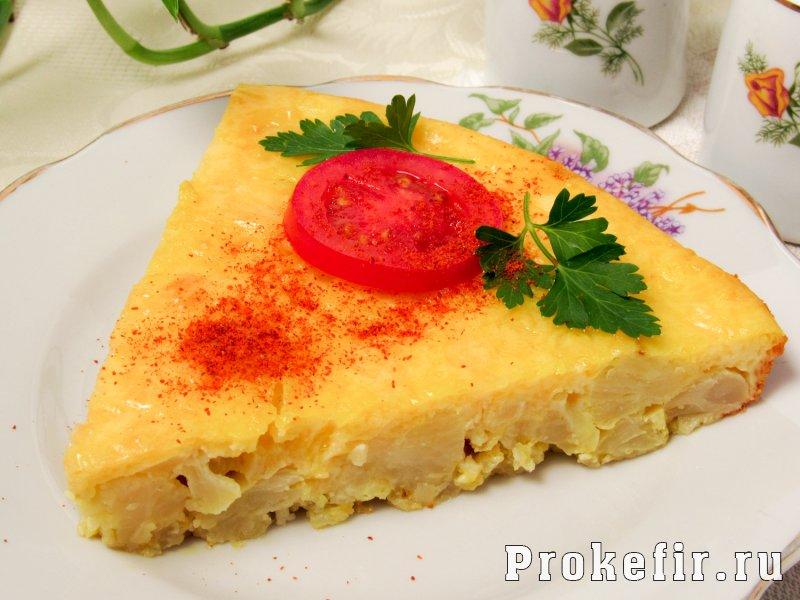 Запеканка из цветной капусты с сыром и яйцом на кефире